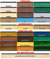 tonalidades de nuestras alicantinas de madera